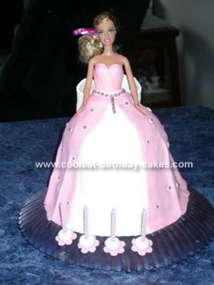 Cool Homemade Barbie Cake