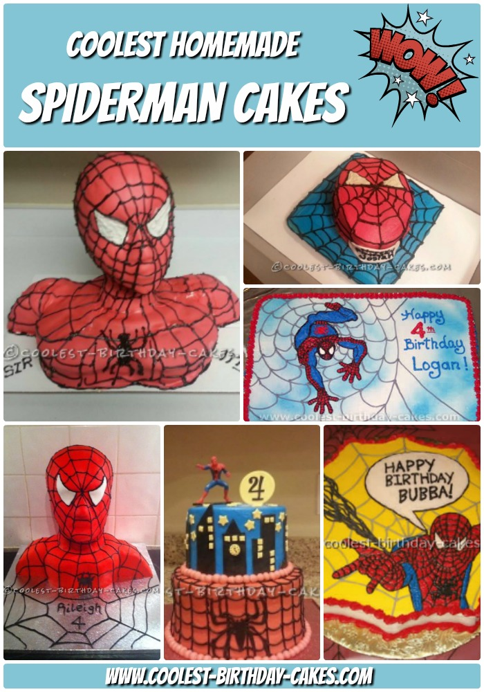 12+ Cool Homemade Spiderman Cake Ideas | Coolest Birthday Cakes