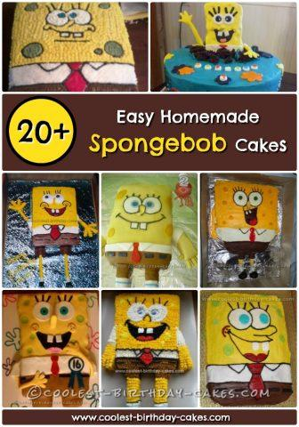 Spongebob Cake Collage