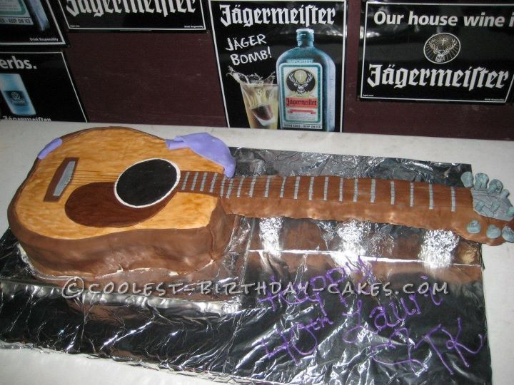 Guitar Birthday Cake for a Toby Keith Lover