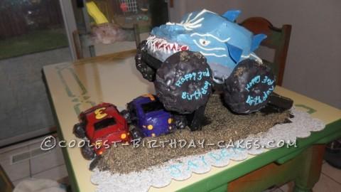 Amazing Shark Monster Truck Cake