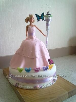 Coolest Barbie and Flying Butterfly Cake