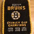 Boston Bruins Banner Cake