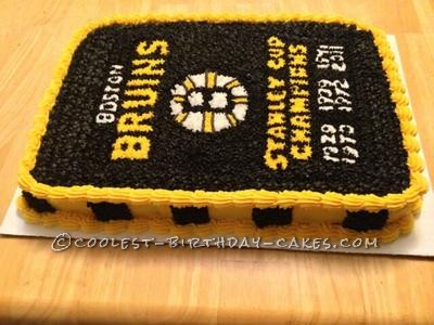 Boston Bruins Banner Cake