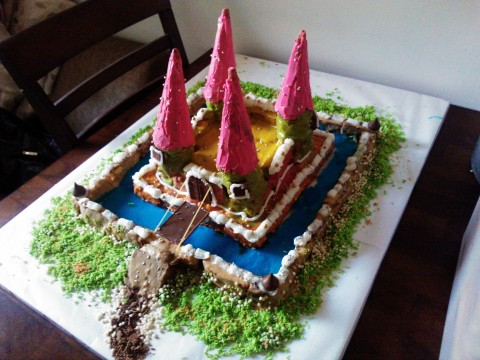 Cool Castle Cake for my Daughter's 6th Birthday