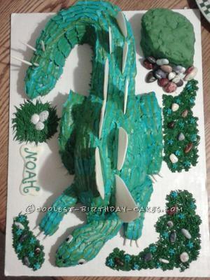 Coolest 3D Dinosaur Cake