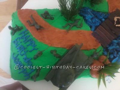 Coolest Army Men on Battlefield Cake