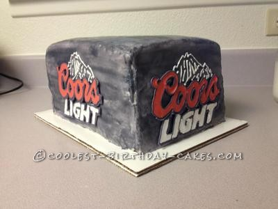 Coolest Beer Box Cake