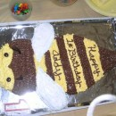 Coolest Bumble Bee 1st Birthday Cake