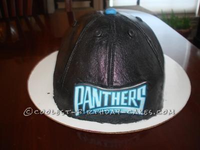 Coolest Carolina Panther Baseball Cap Cake