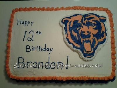 Coolest Chicago Bears Emblem Cake