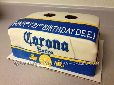 Strange Coolest Corona Beer Box Cake Birthday Cards Printable Benkemecafe Filternl