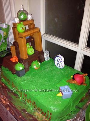 Easy Angry Birds Birthday Cake