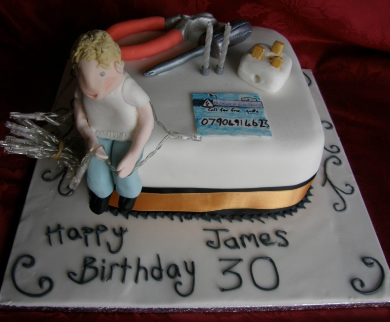 Electrician Cake Designs http://ideas.coolest-birthday-cakes.com/2012/12/26/coolest-electrician-birthday-cake/