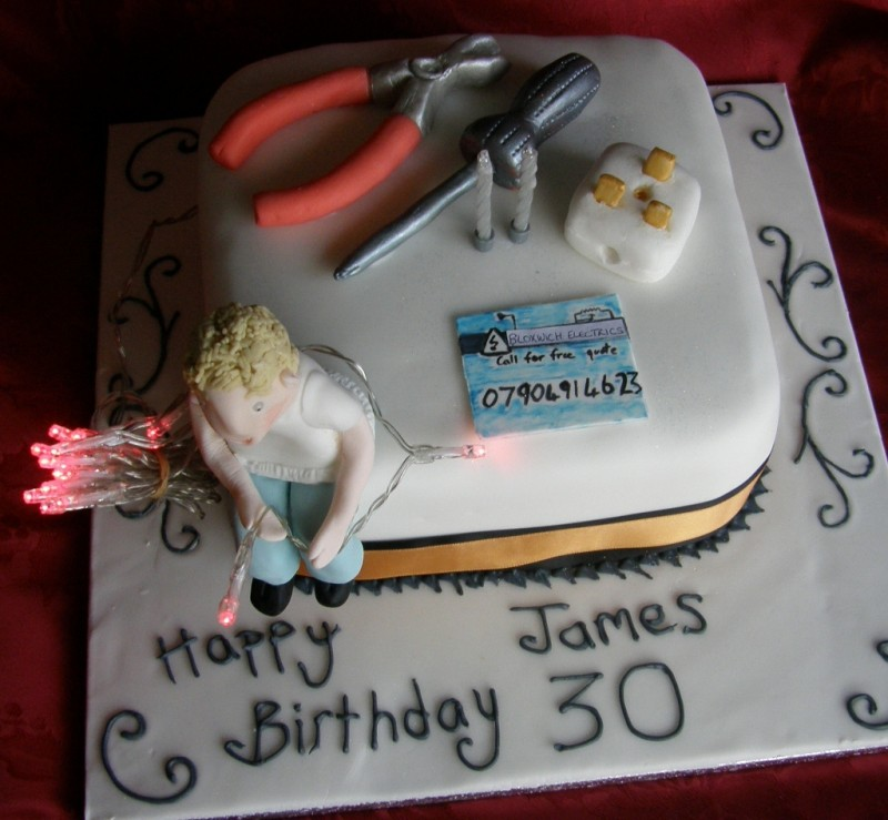 Coolest Electrician Birthday Cake