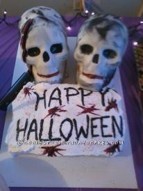 Coolest Halloween Skull Cake