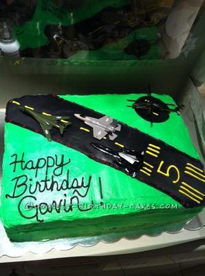 Coolest Jetplane Runway Birthday Cake
