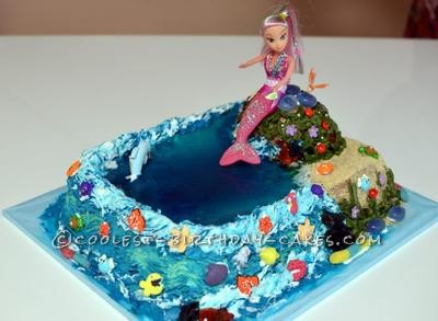 Brilliant Coolest Mermaid Birthday Cake Funny Birthday Cards Online Fluifree Goldxyz