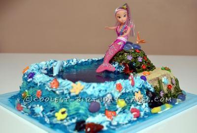 Coolest Mermaid Birthday Cake