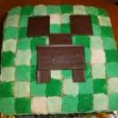 Coolest Minecraft Creeper Cake
