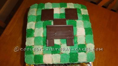 Enjoyable Coolest Minecraft Creeper Cake Personalised Birthday Cards Paralily Jamesorg