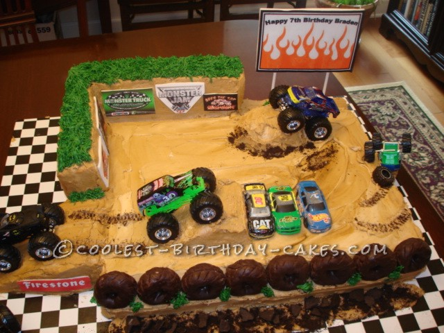 Coolest Monster Truck Birthday Cake