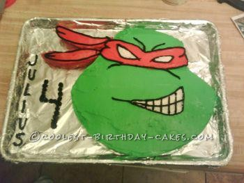 Stupendous Coolest Ninja Turtle Cake Birthday Cards Printable Riciscafe Filternl