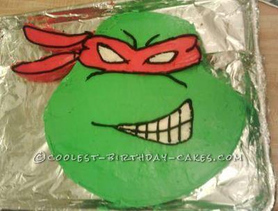 Ninja Turtle Head Cake Coolest Ninja Turtle Cake 1309 Jpg