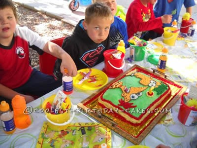 Coolest Phineas and Ferb Birthday Cake