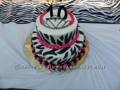 Coolest Princess Zebra Print Cake