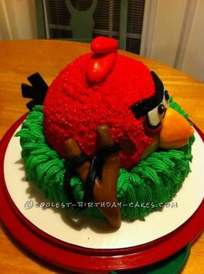 Coolest Red Bird Angry Birds Birthday Cake
