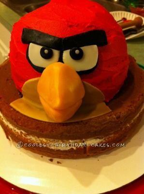 Coolest Red Bird Angry Birds Birthday Cake
