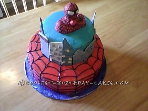 Cool Homemade Spiderman Birthday Cake