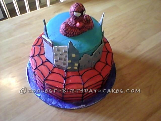 Cool Homemade Spiderman Birthday Cake
