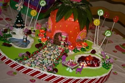 Coolest Strawberry Shortcake Village Cake