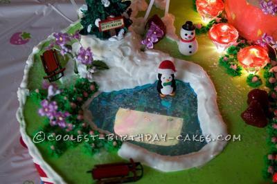 Coolest Strawberry Shortcake Village Cake