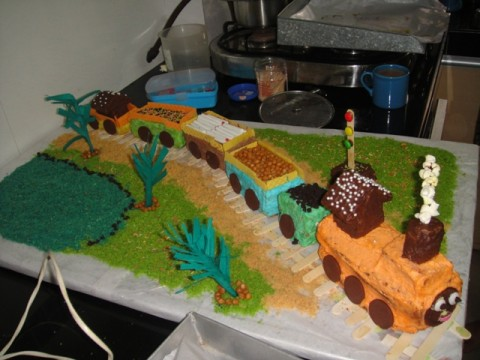 Coolest Train Cake for my Daughter's 5th Birthday
