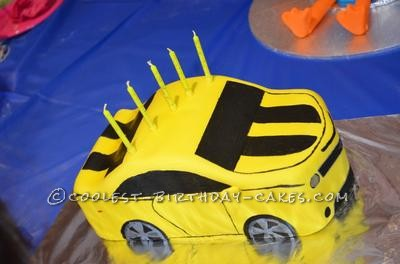 Strange Coolest Transformers Bumblebee 5Th Birthday Cake Funny Birthday Cards Online Alyptdamsfinfo
