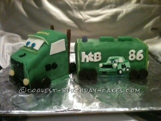 Green Mack Truck Birthday Cake