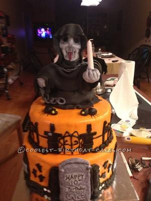 Grim Reaper Halloween Birthday Cake