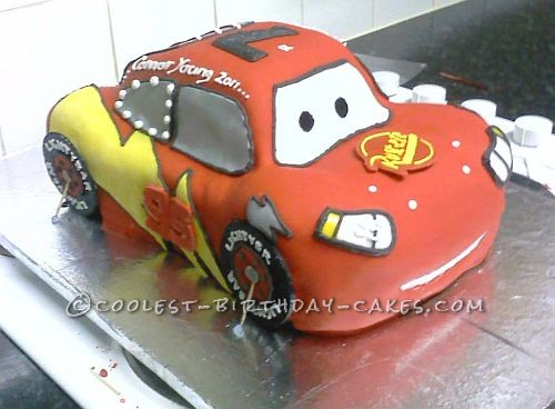 Coolest Lightning McQueen Birthday Cake
