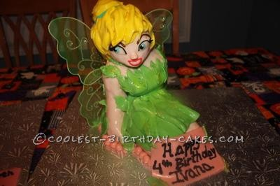 Homemade Tinkerbell Birthday Cake
