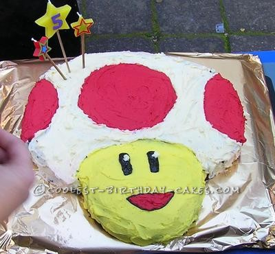Toad from Super Mario Brothers Birthday Cake