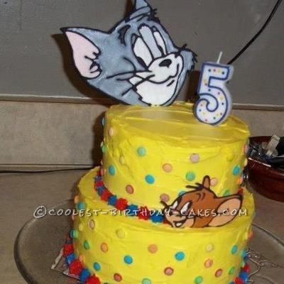 Phenomenal Coolest Tom And Jerry Birthday Cake Personalised Birthday Cards Veneteletsinfo