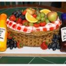 Original Wine and Fruit Basket Cake