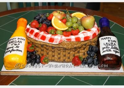 Original Wine and Fruit Basket Cake