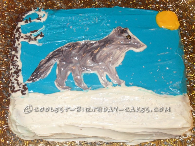 Excellent Wolf Cake For A Ten Year Old Girl Birthday Cards Printable Giouspongecafe Filternl