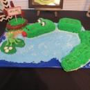 Cool Birthday Cake Idea: Alligator in Water