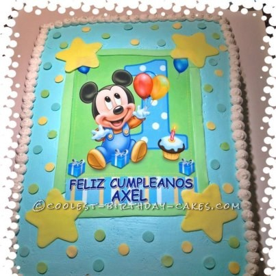 Coolest Baby Mickey Mouse Cake