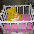 Coolest Baby Shower 3D Crib Cake